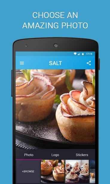 دانلود SALT - Watermark, resize & add text to photos 1.1.36 - برنامه افزودن واترمارک و متن به تصاویر مخصوص اندروید!
