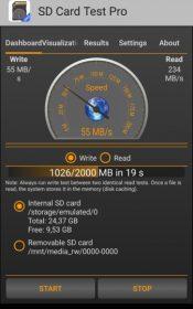 SD Card Test Pro.1 175x280 دانلود SD Card Test Pro 1.3.0 – برنامه جذاب و جالب و خوب مقدار و اندازه گیری سرعت مموری آندروید