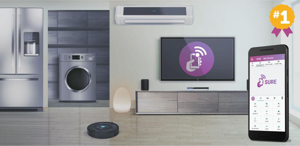 SURE Universal Smart TV Remote Control Full
