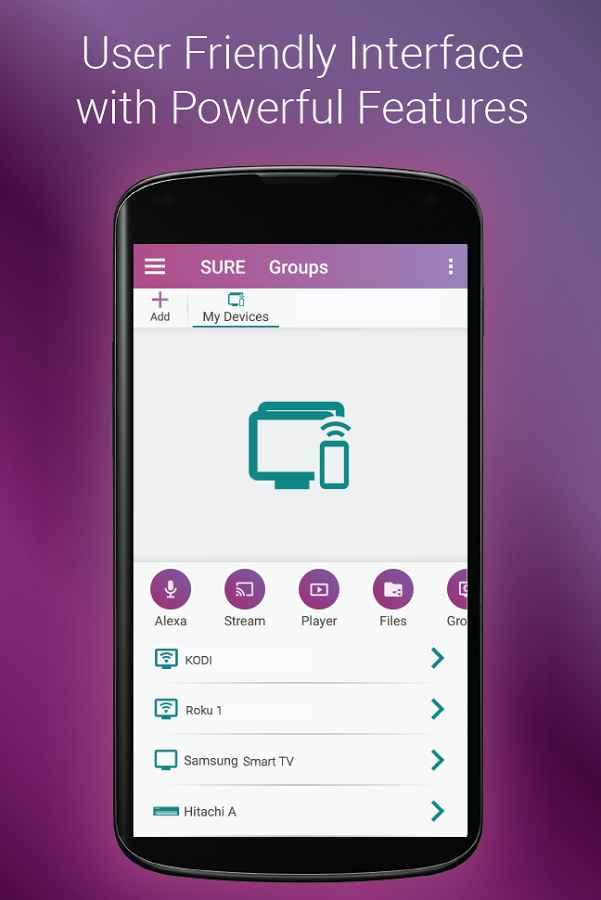 دانلود SURE Universal Smart TV Remote Control Full 4.18.103 - ریموت کنترل کامل و کاربردی اندروید !