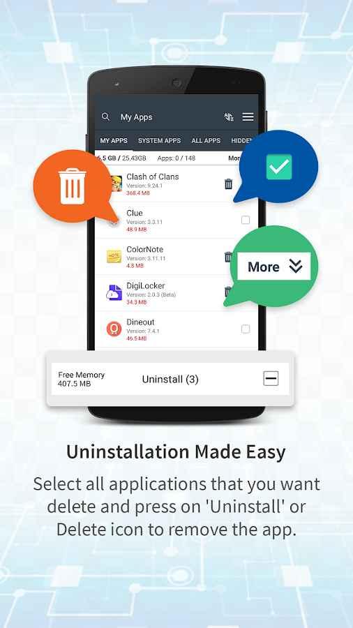 دانلود Safe Uninstaller - Premium app deleter 1.1 - ابزار حذف سریع و ایمن برنامه ها اندروید