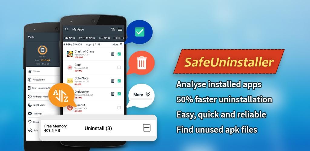 Safe Uninstaller - Premium app deleter