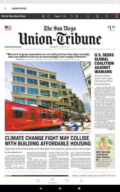 دانلود San Diego Union Tribune Full 4.0.11 - برنامه اخبار دقیق و پر جزئیات جهانی اندروید!