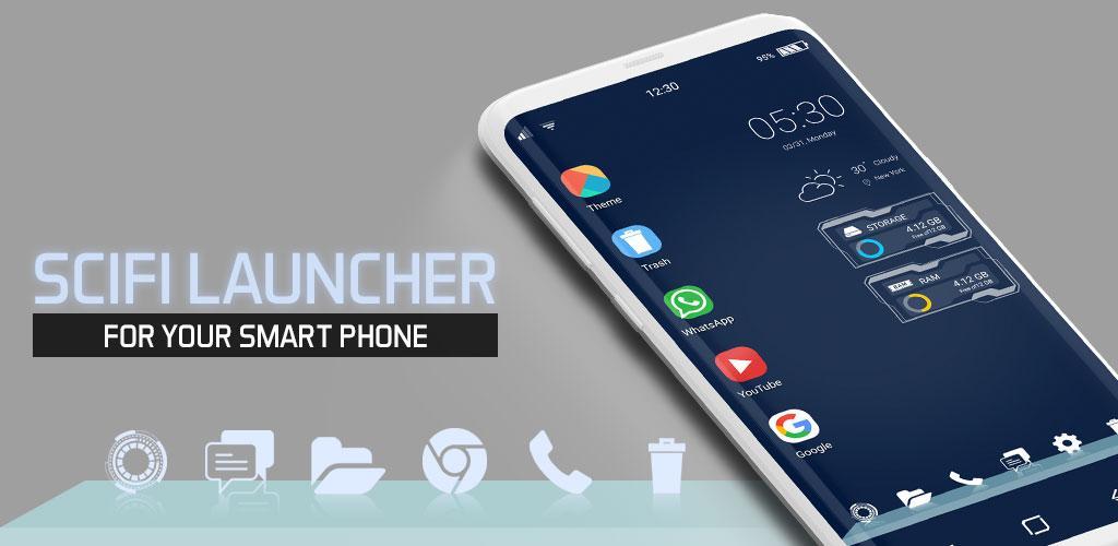 Sci Fi Launcher - 2018 Style Full