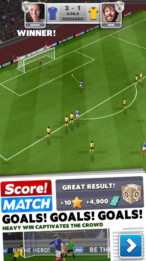 دانلود Score! Match 1.71 - بازی فوتبال فوق العاده زیبا