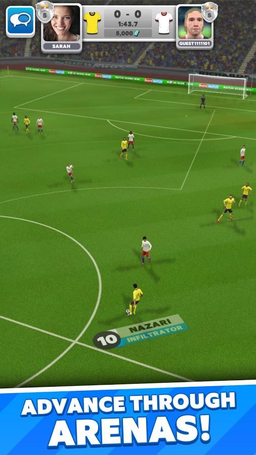 """دانلود Score! Match 1.62 - بازی فوتبال فوق العاده زیبا """"گل بزن! مسابقه"""" اندروید !"""