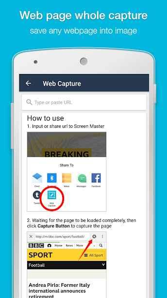 دانلود Screen Master Pro: Screenshot & Photo Markup 1.6.8.6-pro - برنامه اسکرین شات حرفه ای و با کیفیت اندروید + مود
