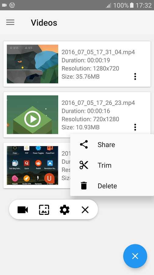 دانلود Screen Recorder - Free No Ads 1.1.7.5 - رکوردر صفحه اندروید !