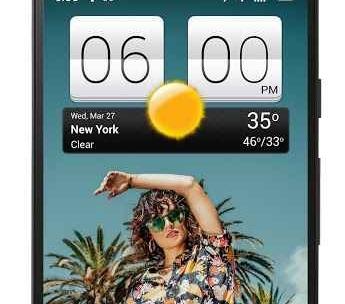 Sense V2 Flip Clock & Weather