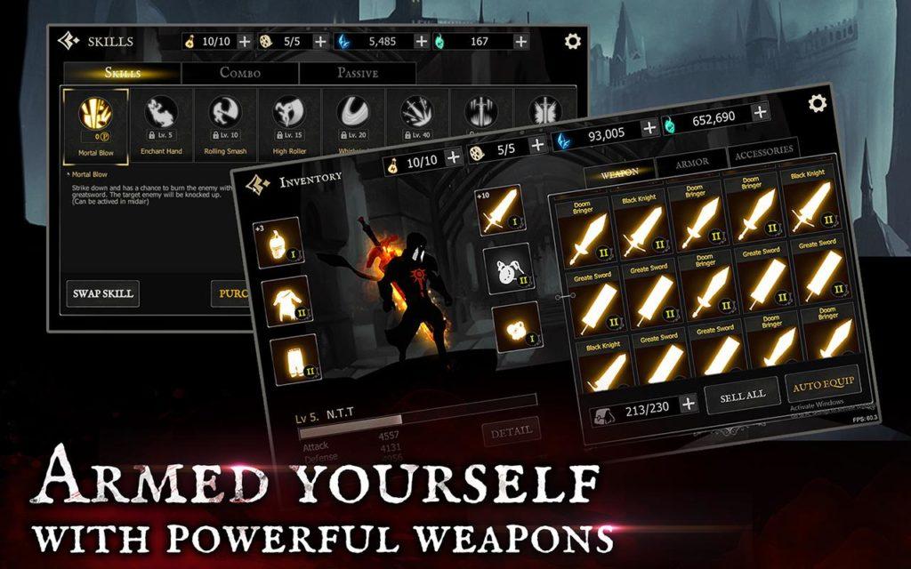 """دانلود Shadow of Death 1.42.0.3 - بازی اکشن """"شوالیه تاریکی"""" اندروید + مود + مگامود"""