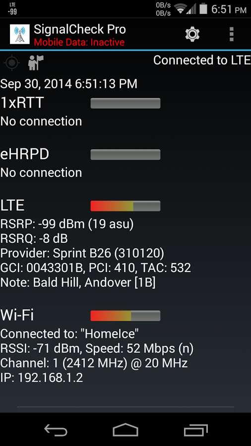 دانلود SignalCheck Pro 4.54 - برنامه بررسی قدرت سیگنال اندروید !