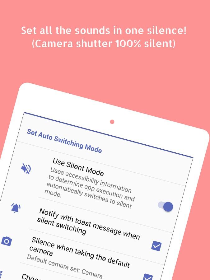 دانلود Silent Mode Pro (Camera Mute) 1.7.1 - برنامه سایلنت سریع اندروید
