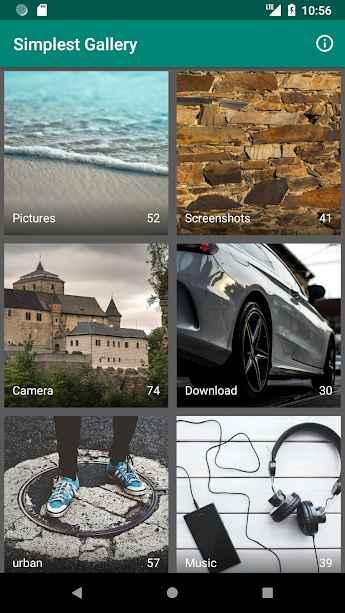 دانلود Simplest Gallery 1.0.6 b10 - ساده ترین و سبک ترین گالری عکس اندروید