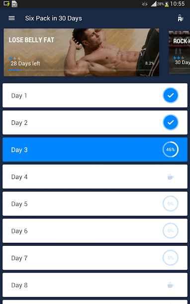 دانلود Six Pack in 30 Days - Abs Workout 1.0.11 - برنامه سیکس پک در سی روز اندروید !