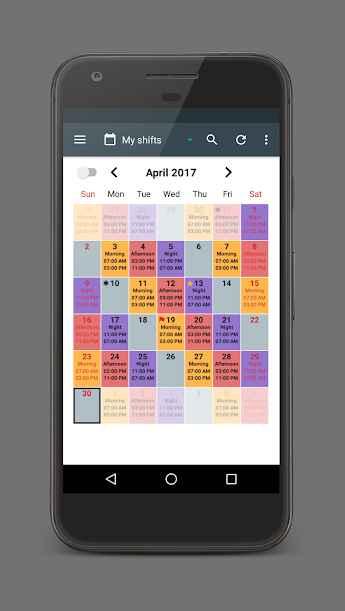 دانلود Shift Calendar Premium 1.8.7 - برنامه تقویم تنظیم شیفت کاری مخصوص اندروید!