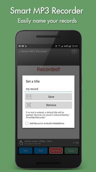 دانلود Smart MP3 Recorder Premium 2.1 - برنامه ساده و قدرتمند ضبط صدا اندروید