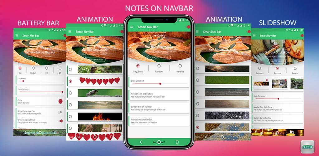 Smart navigation bar – navbar slideshow