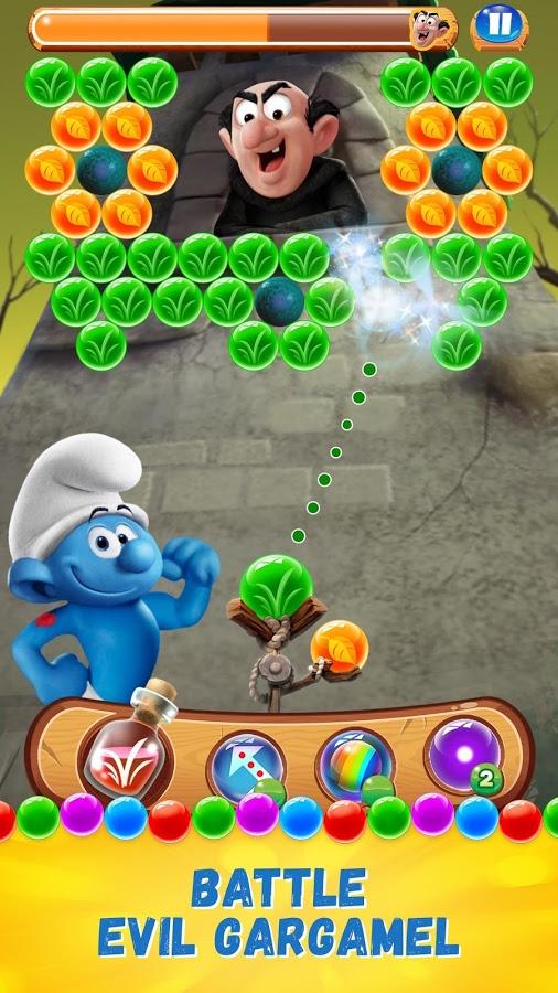 دانلود Smurfs Bubble Story 2.14.000002 - بازی پازل دهکده اسمورف ها اندروید + مود