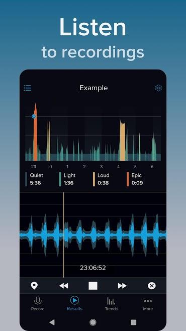 دانلود SnoreLab Premium 2.4.10 - برنامه ضبط و کمک به بهبود خر و پف اندروید!