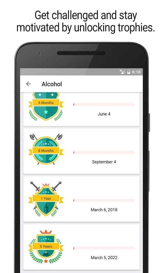 دانلود Sobriety Counter – Bad Habits Full 2.0.3 - ترک اعتیاد و عادات بد اندروید