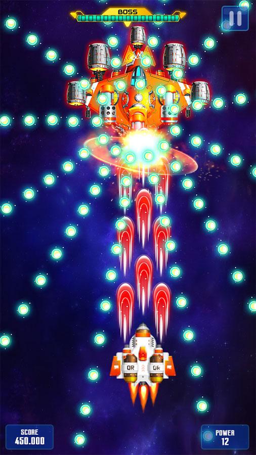 دانلود Space Shooter : Galaxy Shooting 1.290 - بازی تیرانداز فضایی اندروید + مود