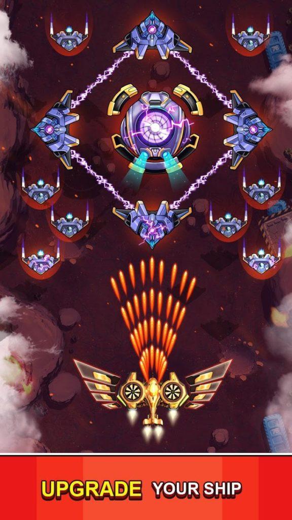 دانلود Space Squad: Galaxy Attack 9.5 - بازی آرکید دفاع از کهکشان اندروید + مود