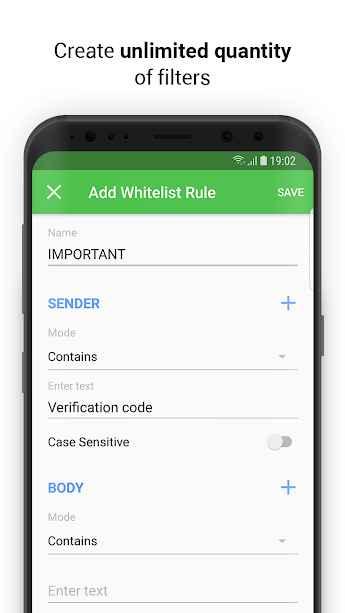 دانلود SpamHound SMS Spam Filter 1.4 - پیام رسان سریع، هوشمند و ایمن اندروید