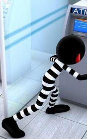 دانلود بازی دزدی استیکمن از بانک برای اندروید Stickman Bank Robbery Escape + مود