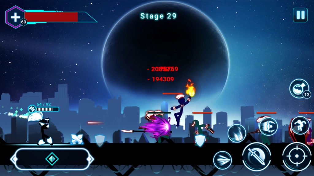 دانلود Stickman Ghost 2: Galaxy Wars 6.5 - بازی اکشن عالی