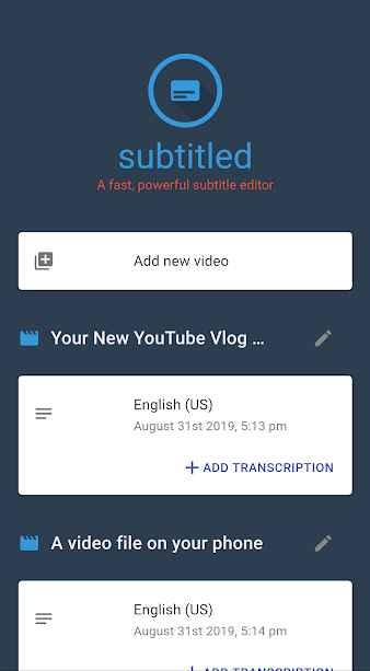 دانلود Subtitled Pro - Subtitle Editor 1.0.9026 - برنامه ویرایش و ایجاد زیر نویس ویدئو مخصوص اندروید