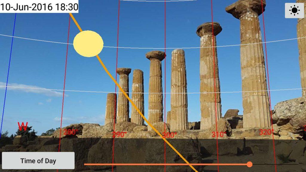 دانلود Sun Locator Pro 2.53 b63 - برنامه پیش بینی مسیر حرکت خورشید و ماه اندروید