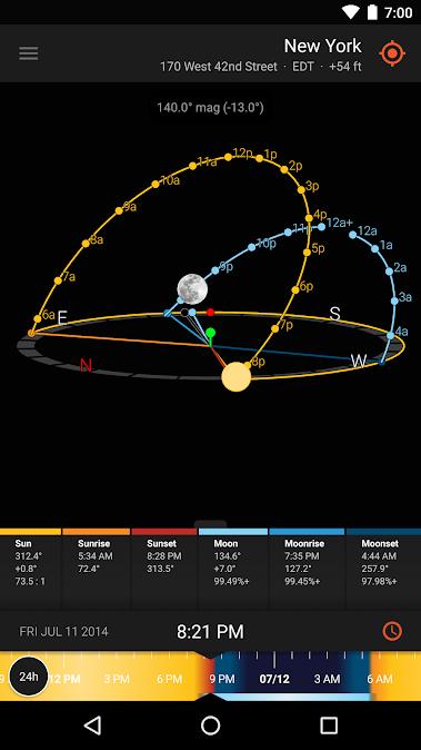 دانلود Sun Surveyor (Sun & Moon) 2.4.20 - برنامه نمایش موقعیت ماه و خورشید مخصوص اندروید