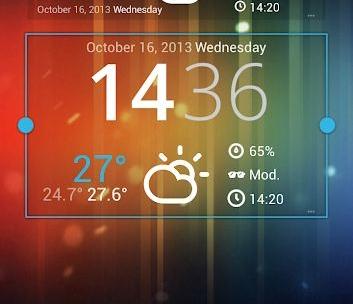 Sunny HK -Weather Clock Widget-5