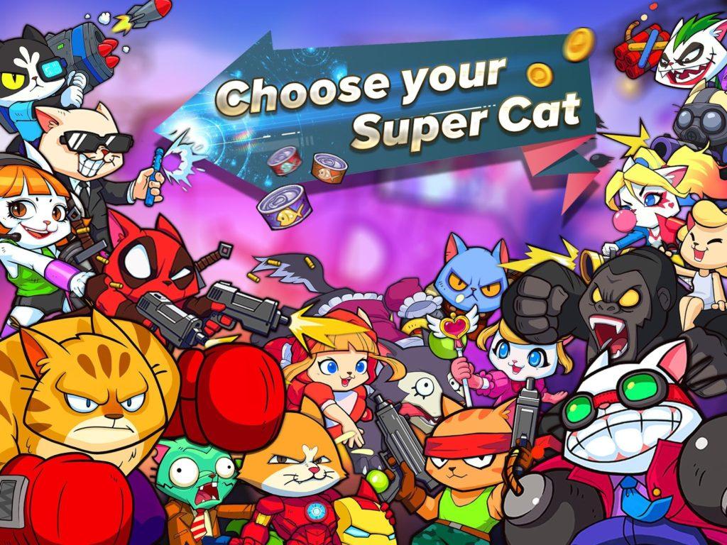 دانلود Super Cats 1.0.46 - بازی اکشن فوق العاده گربه های قهرمان شبیه Brawl Stars اندروید + دیتا