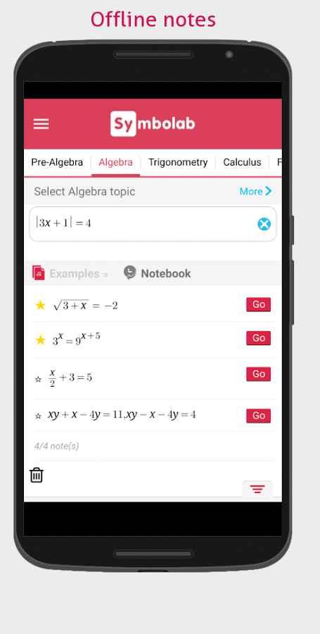 دانلود Symbolab - Math solver 6.7.1 - حل سریع مسائل ریاضی اندروید