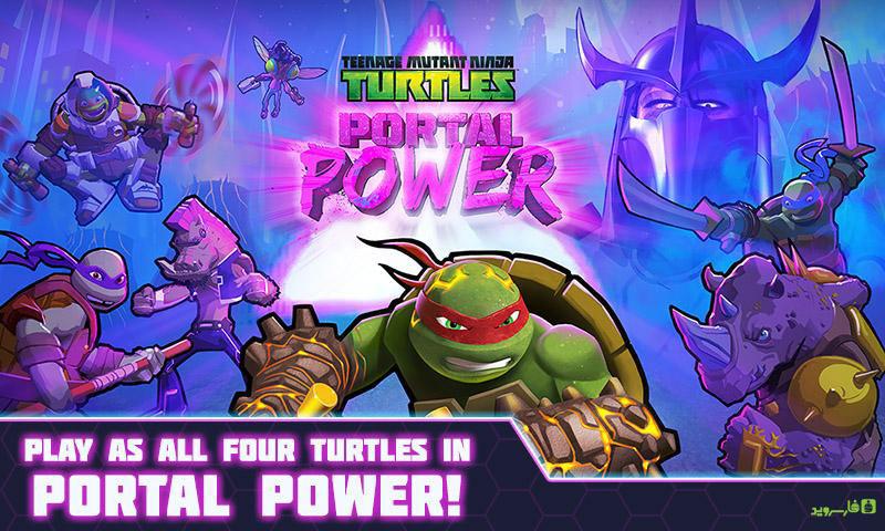 دانلود TMNT Portal Power 222 - بازی لاکپشت های نینجا اندروید + مود + دیتا
