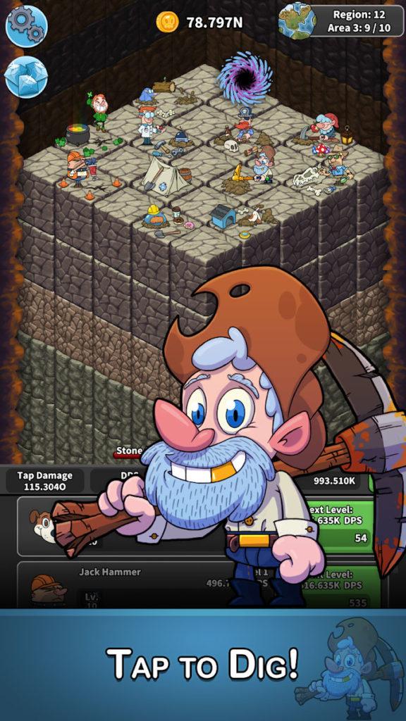 دانلود Tap Tap Dig - Idle Clicker Game 1.8.5 - بازی کلیکی جالب و محبوب