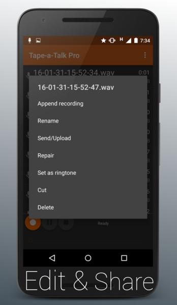 دانلود Tape-a-Talk Pro Voice Recorder 2.0.8 - برنامه ضبط با کیفیت صدا اندروید