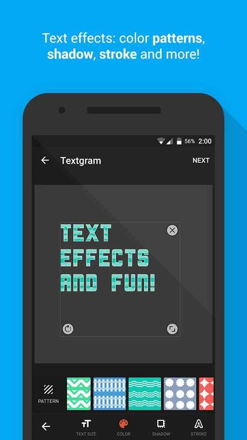 دانلود Textgram - write on photos Full 3.4.5 - محبوب ترین برنامه نوشتن متن بر روی عکس اندروید