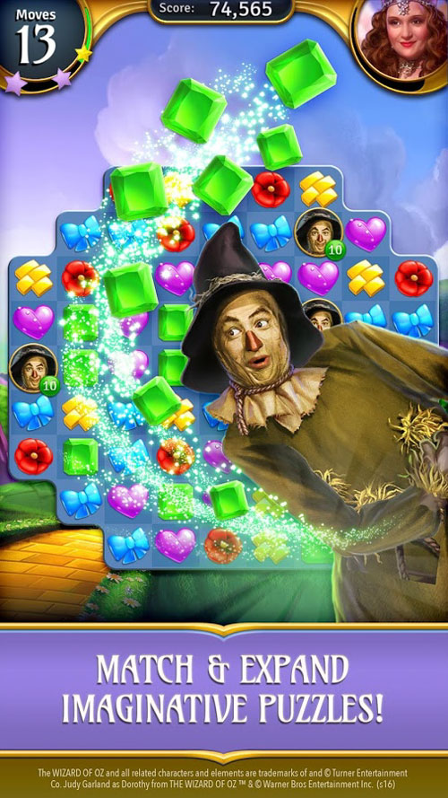 دانلود The Wizard of Oz Magic Match 1.0.3414 - بازی پازل جادوگر شهر آز اندروید + مود