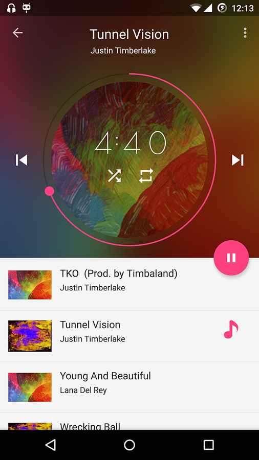 دانلود Timber Music Player Full 1.6 - موزیک پلیر با کیفیت و متریال اندروید