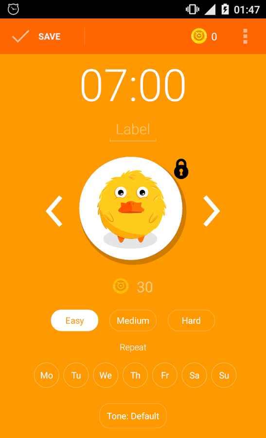 دانلود Timy Alarm Clock Mod 1.0.5.2 - برنامه آلارم جذاب و نوآورانه اندروید
