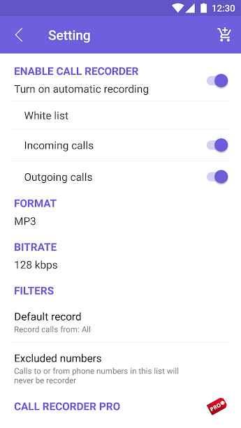 دانلود Top Weather Call Recorder Premium 2.3 - برنامه ضبط تماس خودکار و پر امکانات اندروید !