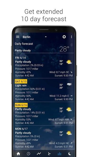 دانلود Transparent clock & weather Pro 4.0.1.3 - ساعت و آب و هوا اندروید