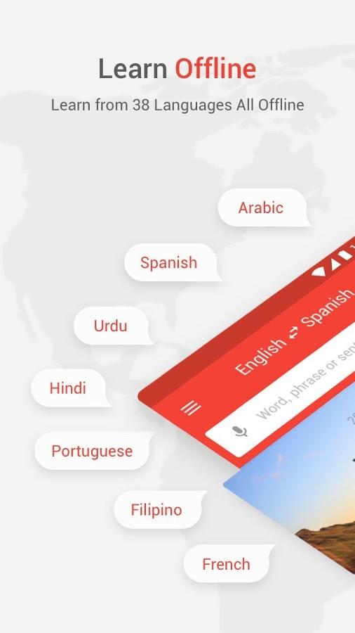 دانلود U-Dictionary:Best English Learning Dictionary 4.0.8 - بهترین لغت نامه و برنامه یادگیری انگلیسی اندروید