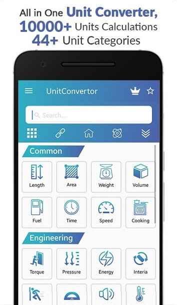 دانلود Unit Converter - Unit Conversion Calculator app Pro 10.4 - برنامه تبدیل واحد ساده و همه کاره اندروید !