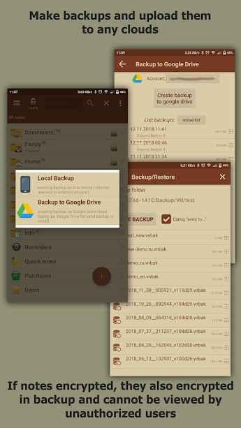 دانلود VIP Notes - keeper for passwords, documents, files 9.9.27 - برنامه یادداشت برداری امن و هوشمند اندروید !