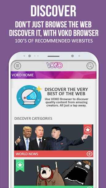 دانلود VOKO Web Browser PRO - Discover the Web 1.0 - مرورگر وب سریع و بهینه ووکو مخصوص اندروید!