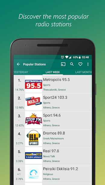 دانلود VRadio - Online Radio Player & Recorder Pro 1.7.6 - رادیو آنلاین جهانی مخصوص اندروید!