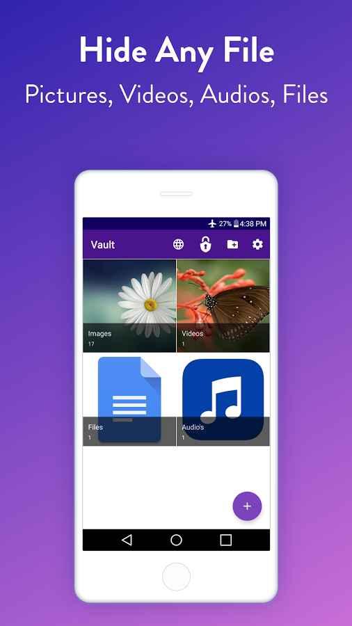 دانلود Vault : Hide Pictures, Videos, Gallery & Files Pro 2.66 - قفل و مخفی کردن فایل ها اندروید !